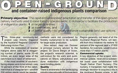 Open-ground indigenous plants one-pager