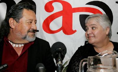 Pita Sharpes and Tariana Turia