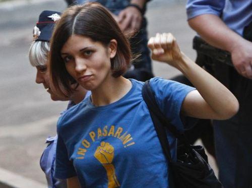 Nadezhda Tolokonnikova, fist pump