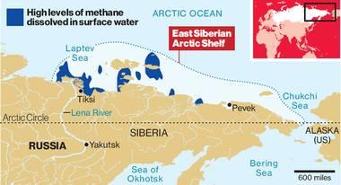 Arctic methane map