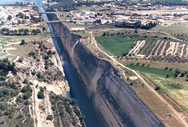 Corinth Canal, arial view