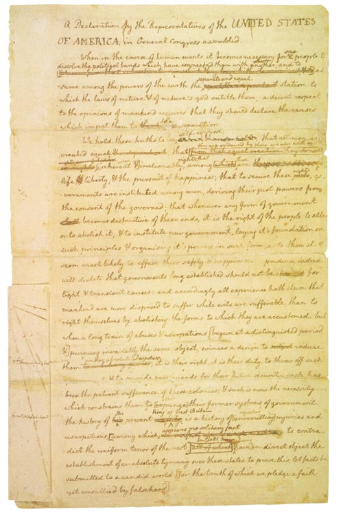 Rough Draft of Declaration of Independence