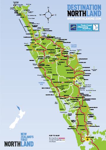 Destination Northland map