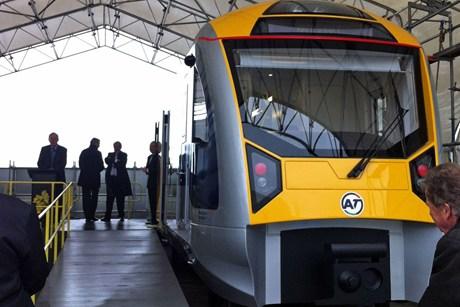 CAF electric train mock-up