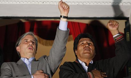 Evo Morales and Alvaro Garcia