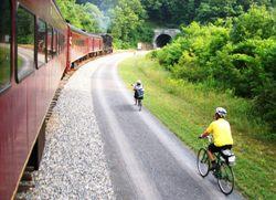Light rail cycle flatcar