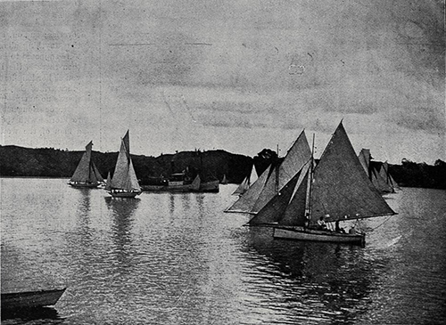Start of the half-decked yacht race