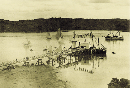Mahurangi Regatta, Scotts Landing, 1901