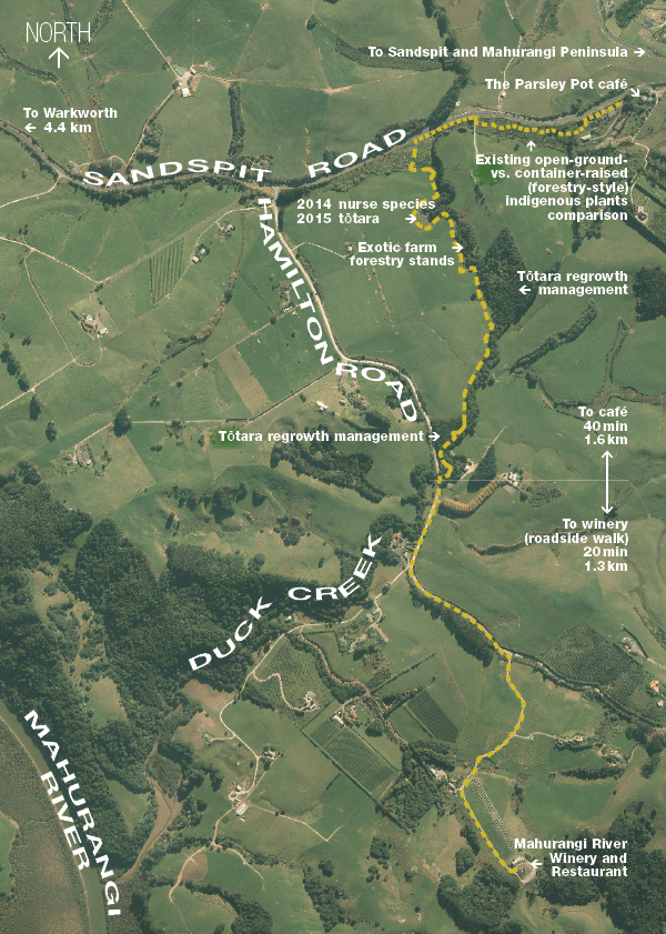 Mahurangi Farm-Forestry Trail map