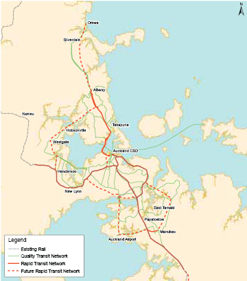 Long-term extensions of the rapid transit network 2006-2016