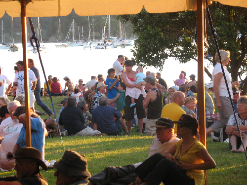 2008 regatta crowd, marquee framed
