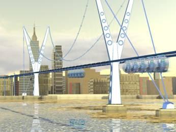 Shweeb suspension bridge