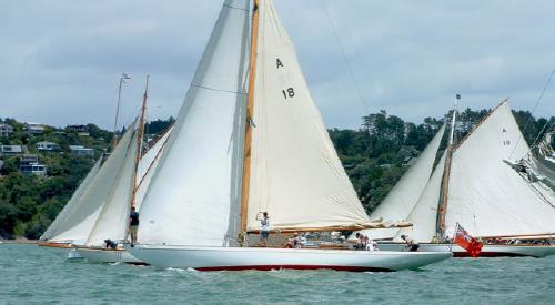 A Class yachts Tawera and Thelma