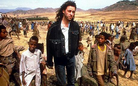 Bob Geldof, Ethiopia, 1985