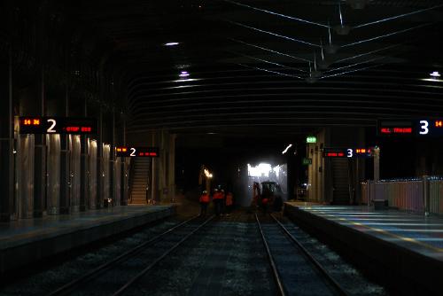 Britomart track work