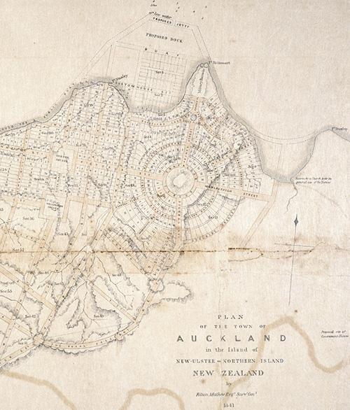Plan of the town of Auckland, Felton Mathew