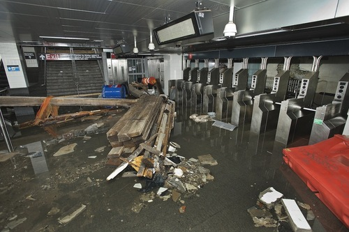 South Ferry Subway Station, Hurricane Sandy