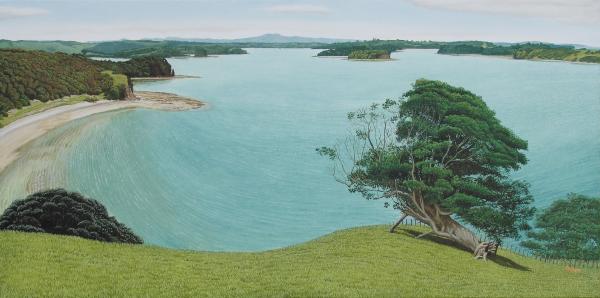 Philip Kilmore oil on linen, Mahurangi