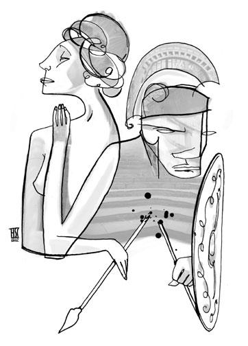 Lysistrata cartoon