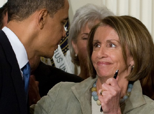 Nancy Pelosi, Barack Obama