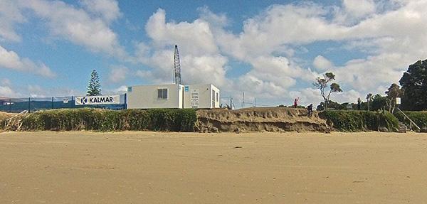 Orewa Ocean Point Beach development beach erosion