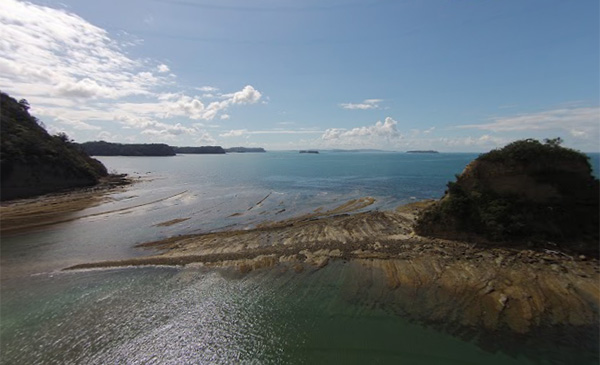 Scotts Landing, drone image from north