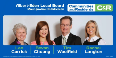 Bevan Chuang local board ticket
