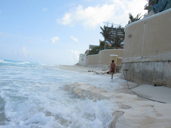 Cancun Beach erosion
