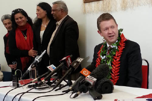 David Cunliffe announcing candidacy