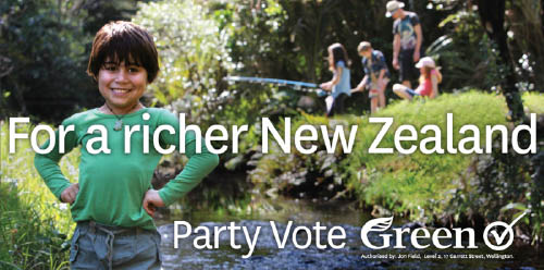 For a Richer New Zealand election hoarding