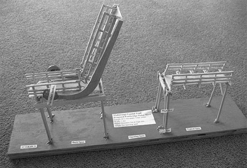 Model of rolling span, opened
