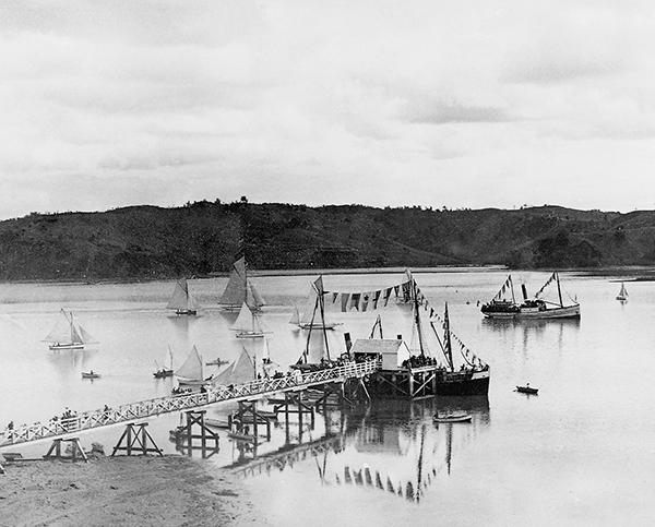 1901 Mahurangi Regatta by Henry Winkelmann