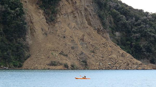 Wenderholm Bluff slip