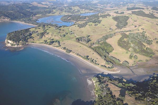 Te Muri, aerial image