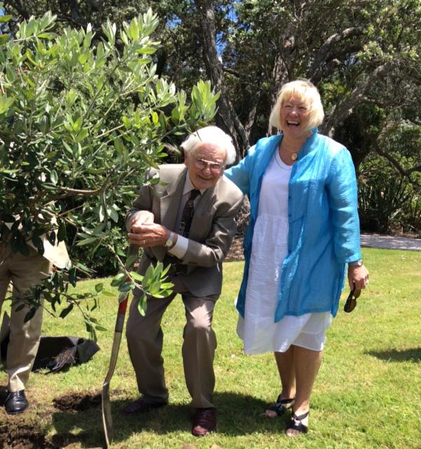 Arnold Turner and Christine Fletcher, Wenderholm Regional Park 50th anniversary celebration