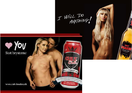 Cult cola breast cancer advertisement