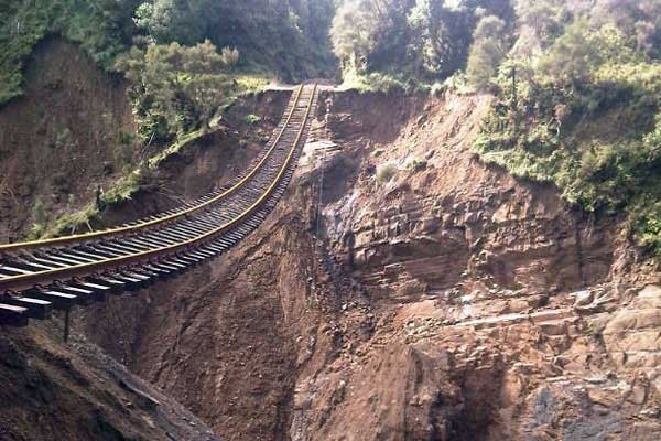 Track damage in the Wharerata Ranges