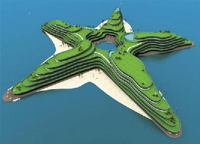 Maldives floating island