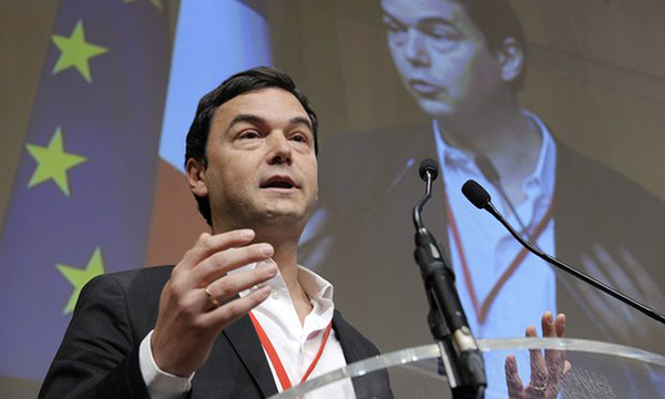 Thomas Piketty, speaking at the economy ministry in Paris in January 2015.