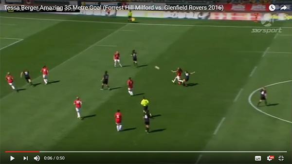 Tessa Berger's 35-metre goal