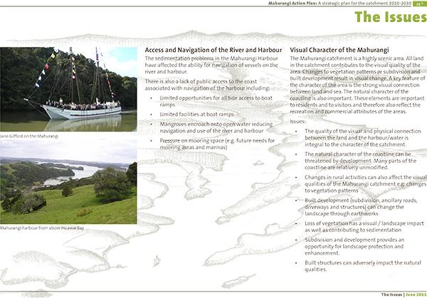 Mahurangi Action Plan, page 7
