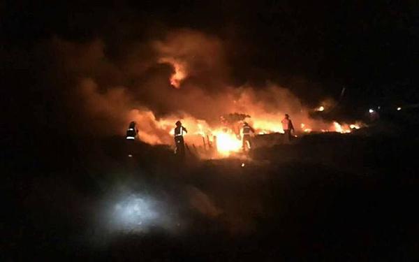 Browns Island fire