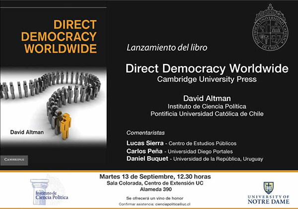 Direct Democracy Worldwide, book launch