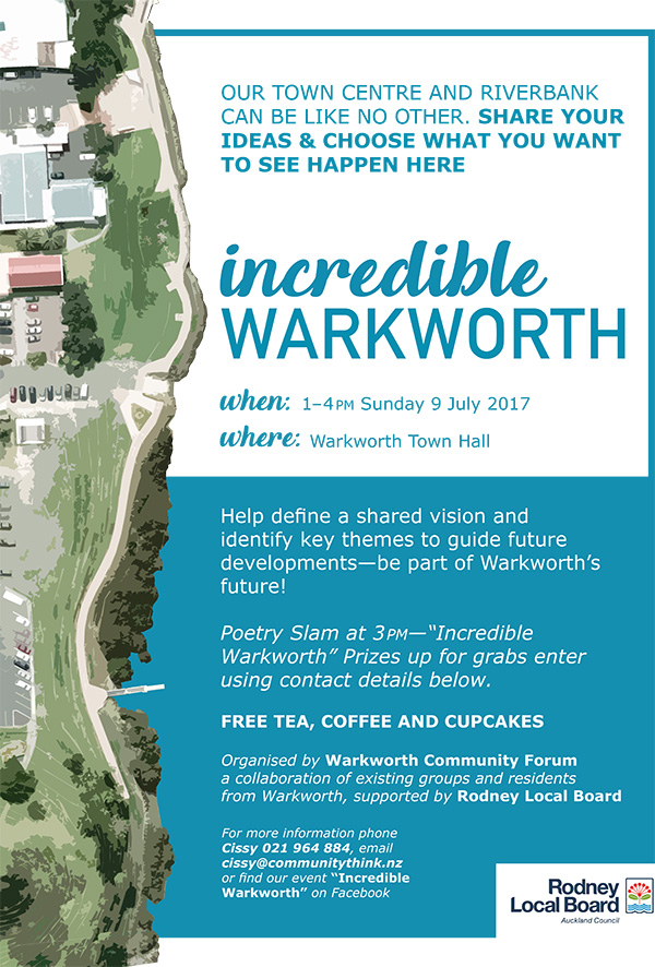 Incredible Warkworth workshop flyer