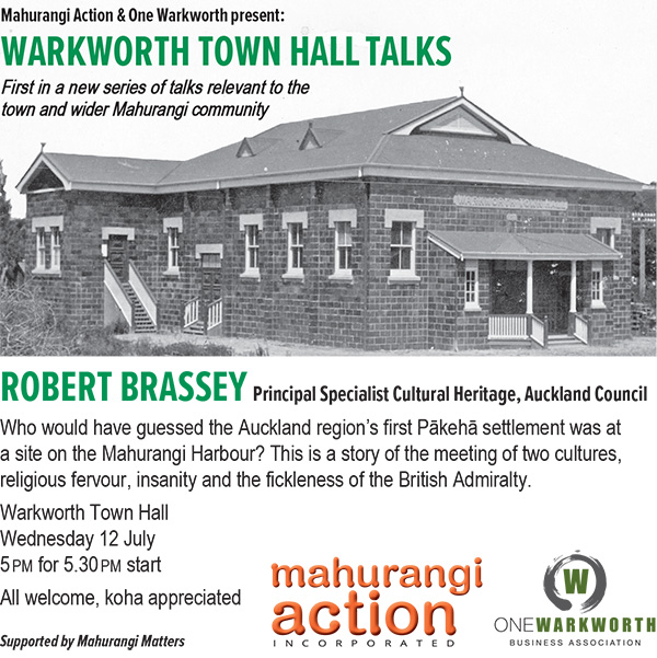 Warkworth Town Hall Talk flier