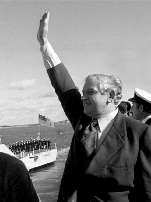 Norman Kirk farewells HMNZS Otago