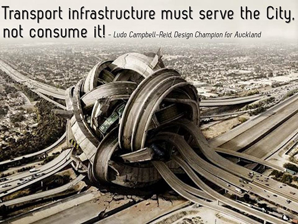 Transport infrastructure should serve not consume