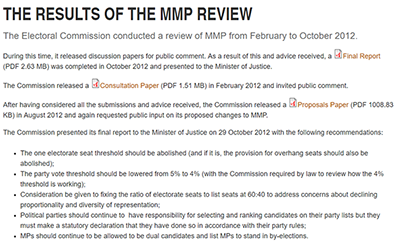 Failure to fix mmp could cost Labour