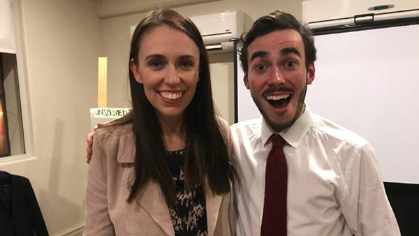 Jacinda Ardern and Robbie Nicol