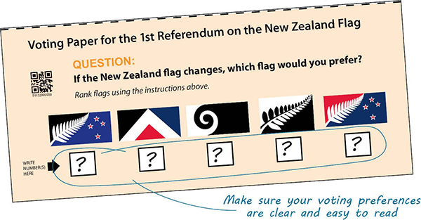 Flag preference voting paper